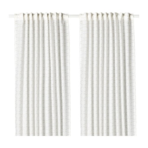 Fj llbinka curtains 1 pair ikea for White curtains ikea