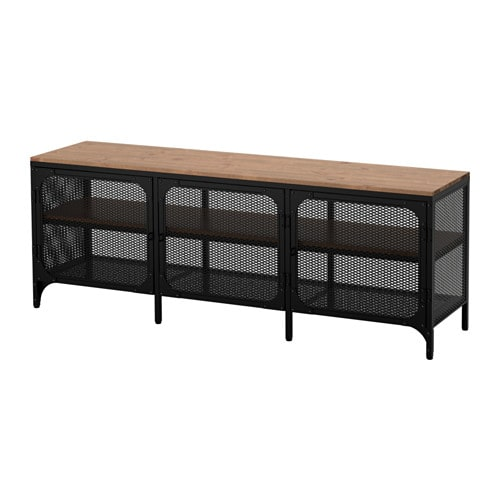 FJÄLLBO TV unit, black black 59x21 1/4