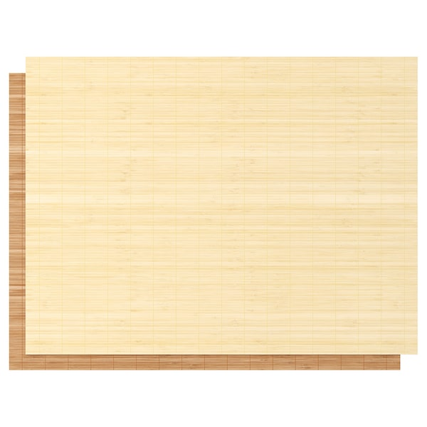 "FJELLHAMAR Pair of sliding doors, light bamboo, 59x92 7/8 """
