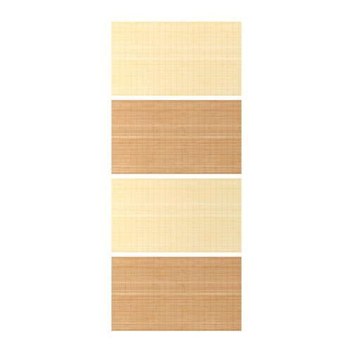 FJELLHAMAR 4 panels for sliding door frame, bamboo, double sided on