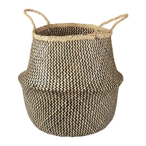 FLÅDIS Basket IKEA You can choose how you want to use this basket – turned up with handles or turned down to display the contents.