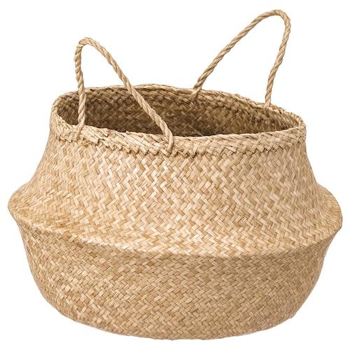 "FLÅDIS basket seagrass 12 5/8 "" 9 7/8 "" 7 1/16 """