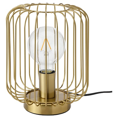 FLAGGSKEPP Table lamp, brass plated