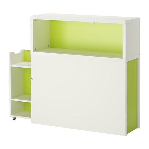 Vitrine Ikea Detolf Occasion ~ FLAXA Headboard with storage compartment IKEA Headboard with open