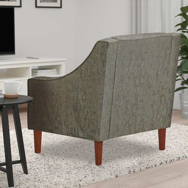 FLINSHULT Armchair, brown/beige