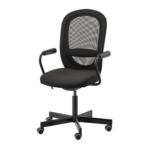 Bureau Vloermat Ikea.Flintan Nominell Office Chair With Armrests Black Ikea
