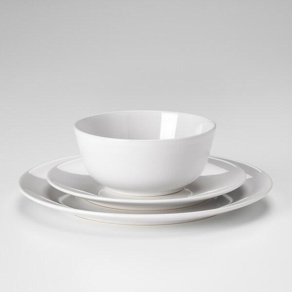 FLITIGHET 18-piece dinnerware set, white