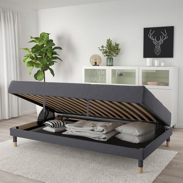 """FLOTTEBO Sleeper sofa, Gunnared medium gray, 47 1/4 """""""