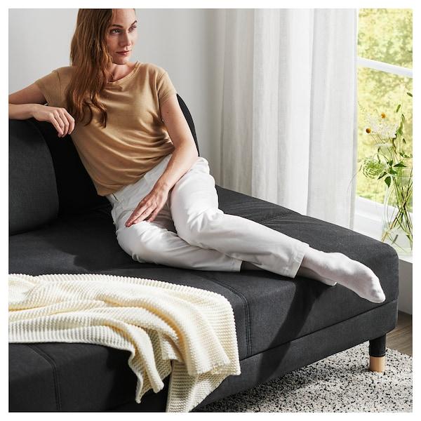 "FLOTTEBO Sleeper sofa, Vissle dark gray, 47 1/4 """