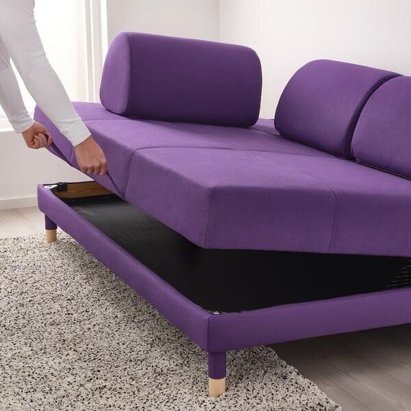 """FLOTTEBO Sleeper sofa, Vissle purple, 47 1/4 """""""