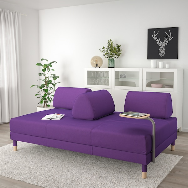 Magnificent Sleeper Sofa With Side Table Flottebo Vissle Purple Bralicious Painted Fabric Chair Ideas Braliciousco