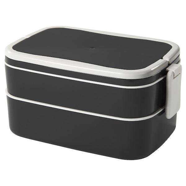 "FLOTTIG lunch box black/white 8 ¼ "" 5 "" 4 """