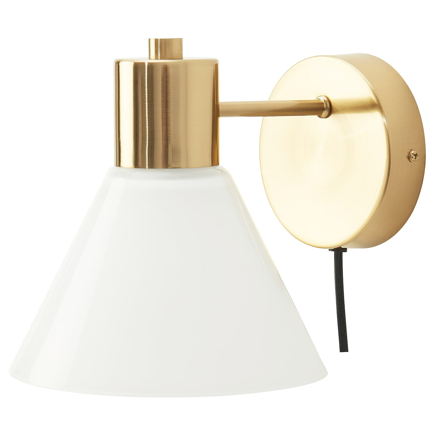 FLUGBO Wall lamp - brass color/glass