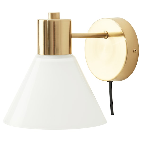 """FLUGBO wall lamp with LED bulb brass color/glass 13 W 9 """" 8 """" 7 """" 6 ' 7 """""""