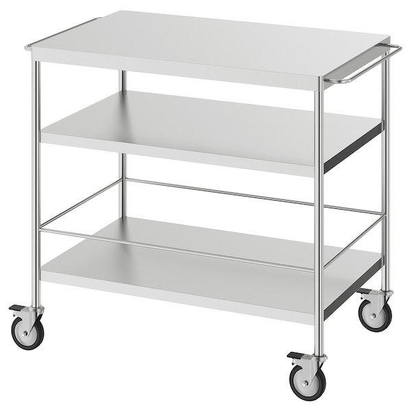 Flytta Kitchen Cart Stainless Steel Ikea