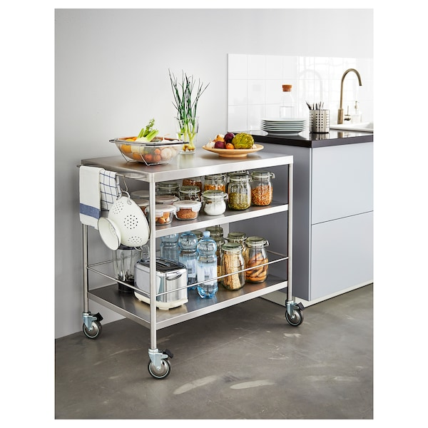 Kitchen cart FLYTTA stainless steel