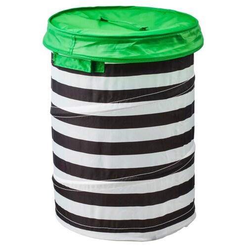 "FLYTTBAR basket with lid green 19 ¼ "" 13 ¾ """