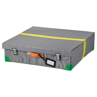 "FLYTTBAR underbed storage box dark gray 22 7/8 "" 22 7/8 "" 5 7/8 """