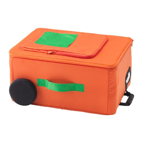 FLYTTBAR Storage box, orange orange -