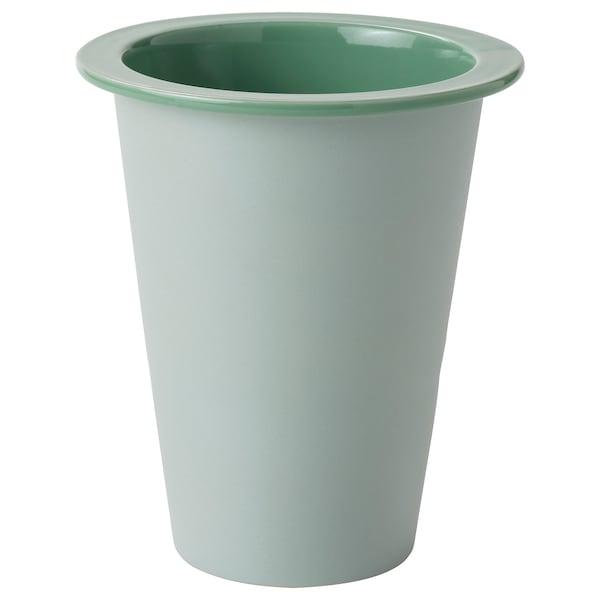 """FNITTRIG Plant pot, indoor/outdoor green, 4 ¾ """""""