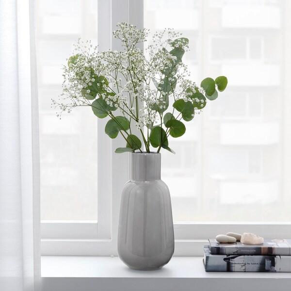 "FNITTRIG Vase, gray, 10 ¼ """