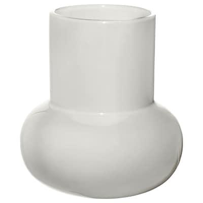 "FNITTRIG Vase, white, 6 ¾ """