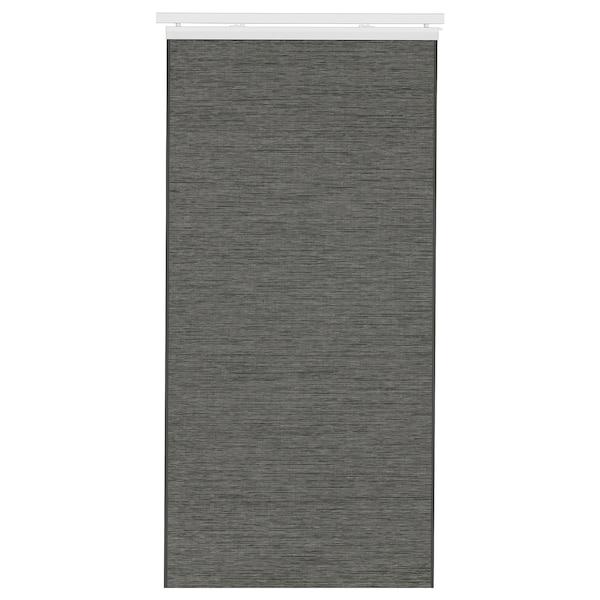 """FÖNSTERVIVA Panel curtain, dark gray, 24x118 """""""