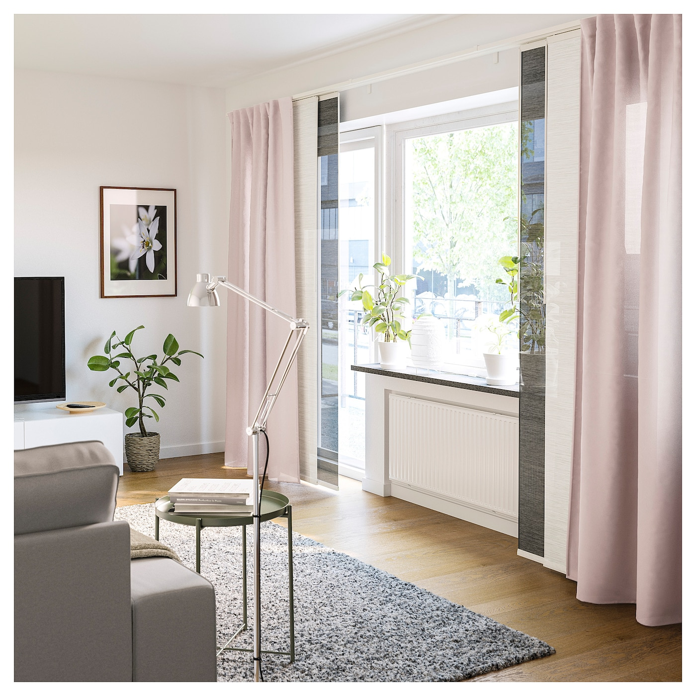 600.833.18 60 x 300cm 24 x 118 Ikea Anno Inez Panel Curtain Room Divider Sheer Panel Curtain