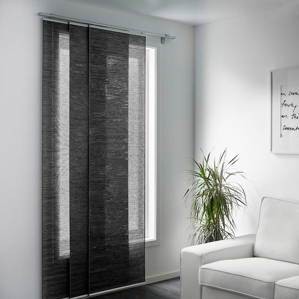 fÖnsterviva panel curtain  dark gray  ikea