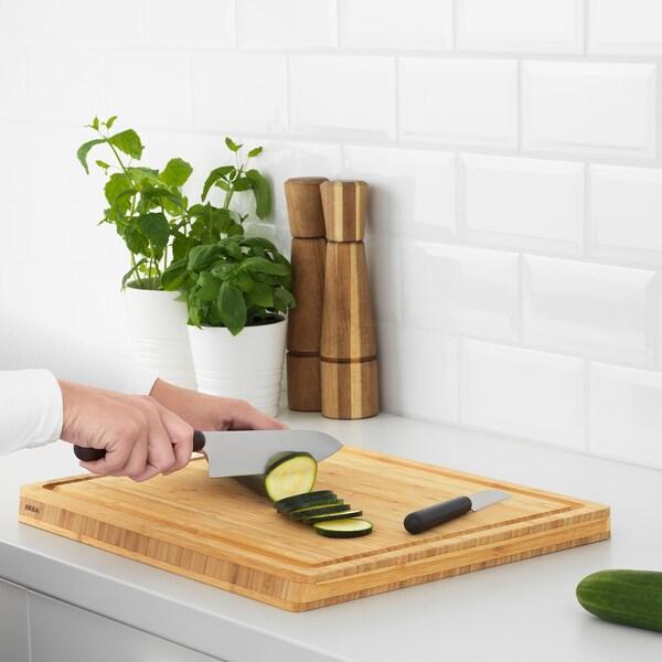 FÖRDUBBLA 2-piece knife set, gray
