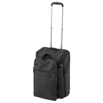"FÖRENKLA carry-on bag on wheels and backpack dark gray 13 ½ "" 7 ¾ "" 20 ½ """