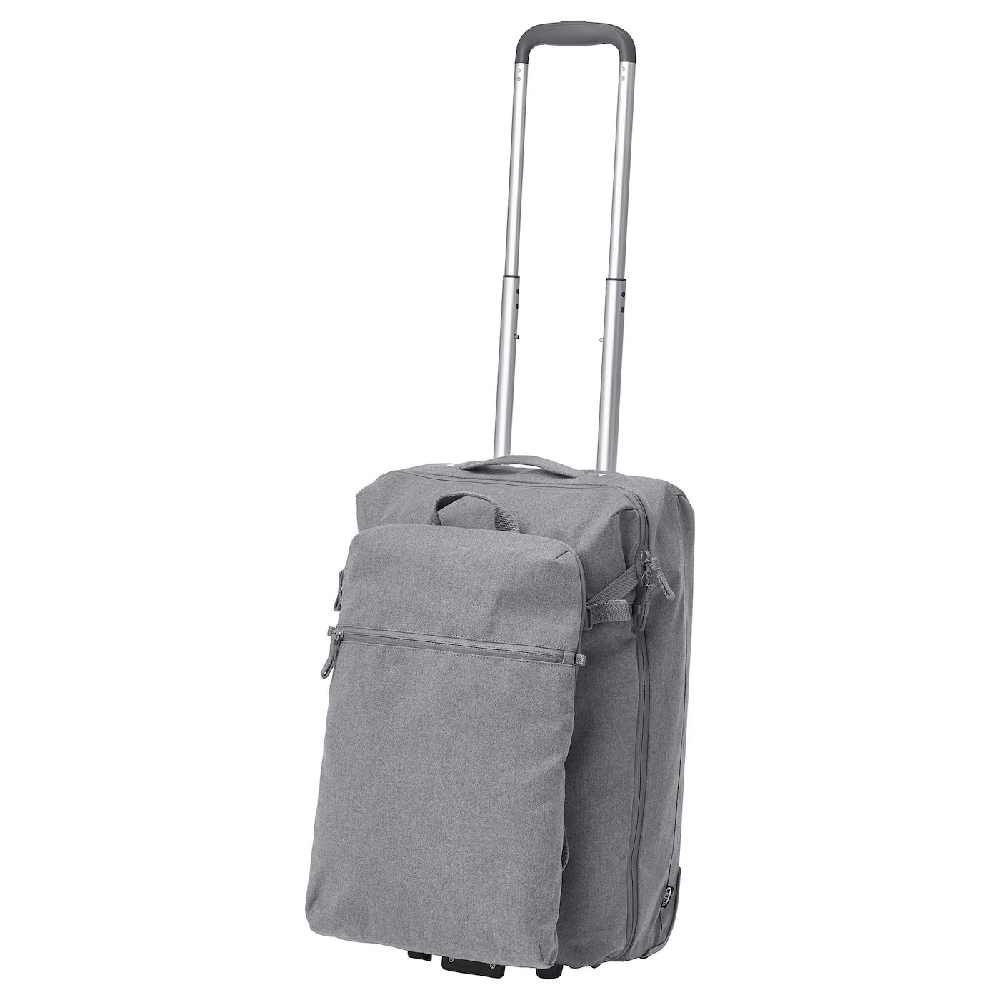 Carry On Bag Wheels And Backpack FÖrenkla Light Gray