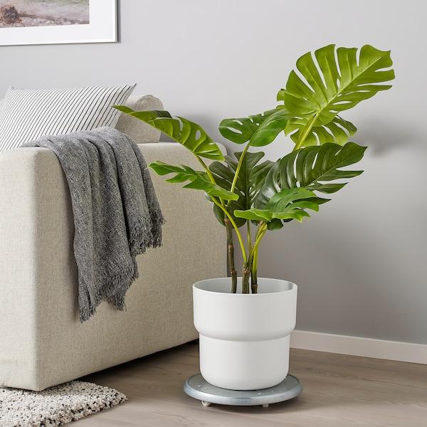 "FÖRENLIG Plant pot, indoor/outdoor white, 9 ½ """