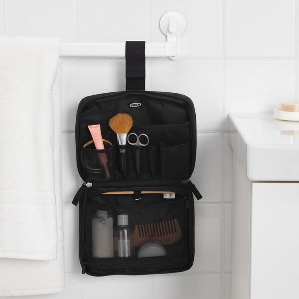 """FÖRFINA toiletry bag black 9 """" 2 ¾ """" 6 ¾ """""""