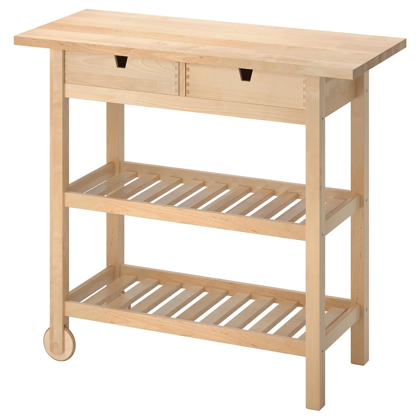 FÖrhÖja Kitchen Cart Birch Ikea