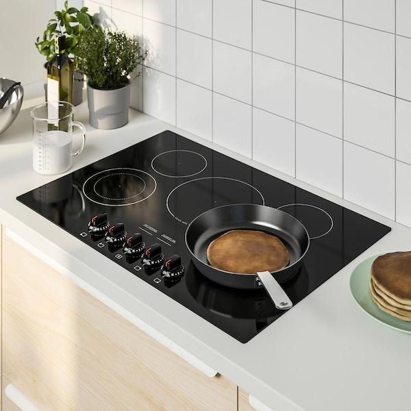 """FÖRVÄLLA Glass ceramic cooktop, black, 30 """""""