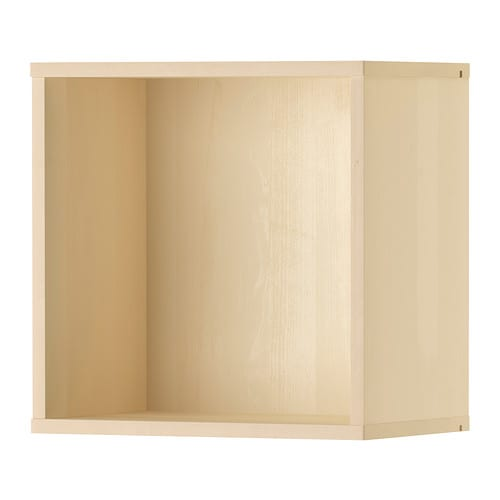 F rh ja wall cabinet birch ikea for Cube rangement mural ikea