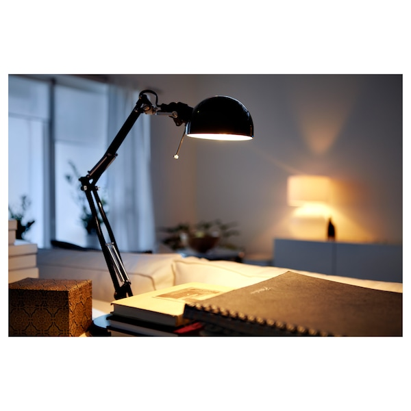 """FORSÅ work lamp with LED bulb black 40 W 14 """" 6 """" 5 """" 5 ' 11 """""""