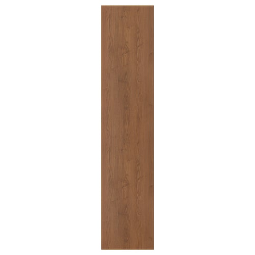 """FORSAND door with hinges brown stained ash effect 19 1/2 """" 90 3/8 """" 93 1/8 """" 3/4 """""""
