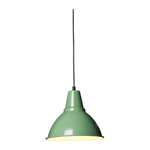 FOTO Pendant lamp IKEA This lamp gives a pleasant atmosphere for dining, spreading direct light across your dining or bar table.