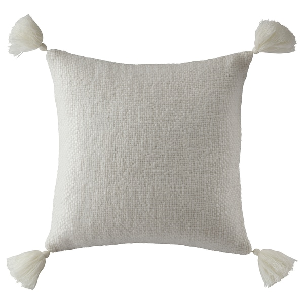 FOTSLÄPARE Cushion cover, off-white, 20x20 ""