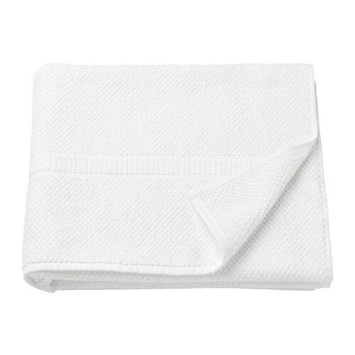 white bath towel. FRÄJEN Bath Towel White