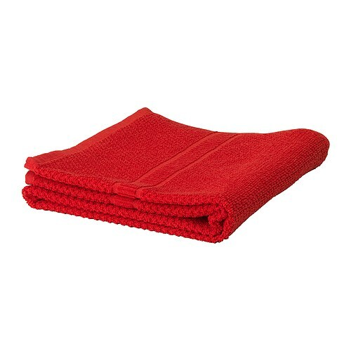 FRÄJEN Washcloth IKEA A terry towel in medium thickness that is soft and highly absorbent (weight 500 g/m²).  Made of combed cotton.
