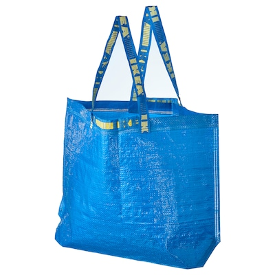"FRAKTA shopping bag, medium blue 17 ¾ "" 7 "" 17 ¾ "" 55 lb 10 gallon"