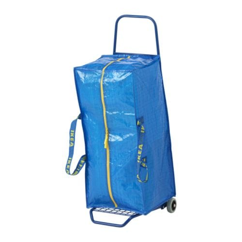 FRAKTA Hand cart with storage bag IKEA Perfect for transporting your purchases, or heavy items in your home.