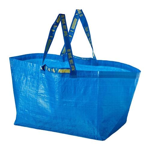 dcf39143645a FRAKTA - Shopping bag, large, blue
