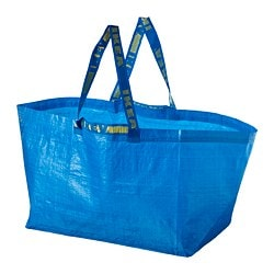 FRAKTA shopping bag, large, blue
