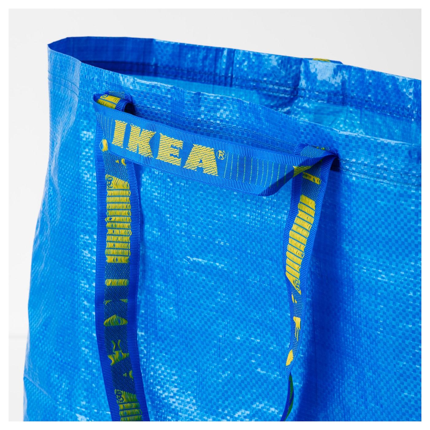 Details about  /Upcycled ikea frakta blue bag all handmade shoulder tote bag