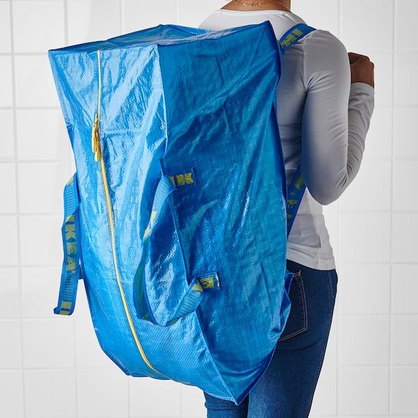 IKEA LARGE BLUE BAG Shopping Grocery Laundry Storage Tote 19 GAL FRAKTA