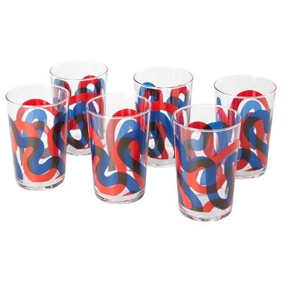 "FRAMKALLA glass patterned 5 "" 14 oz 6 pack"